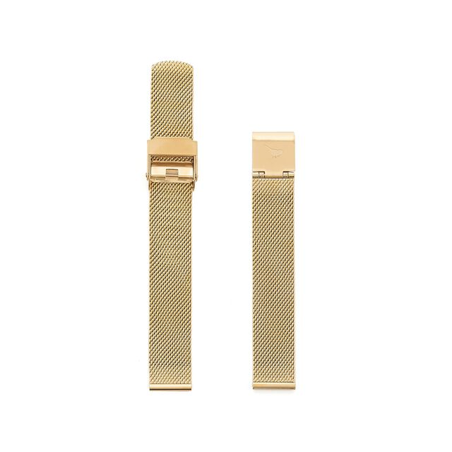 Midi Dial Gold Mesh Strap