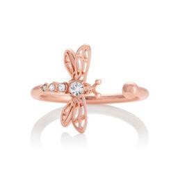 Dancing Dragonfly Ring Rose Gold