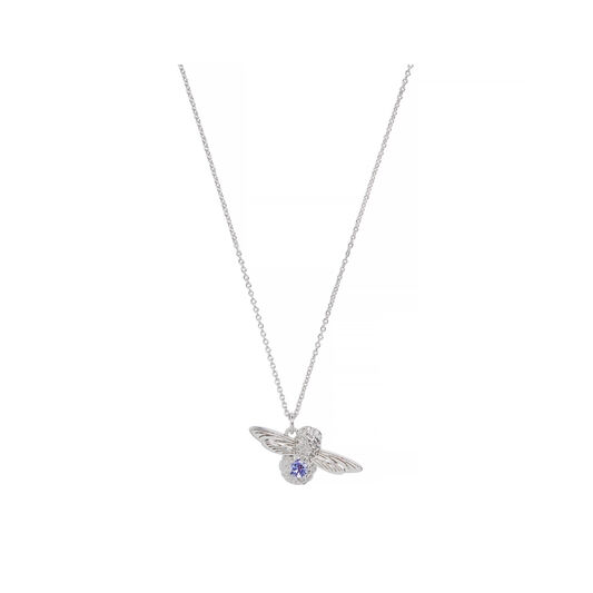 Bejewelled Bee Pendant with Tanzanite