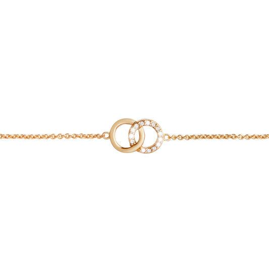 Bejewelled Interlink Chain Bracelet Gold