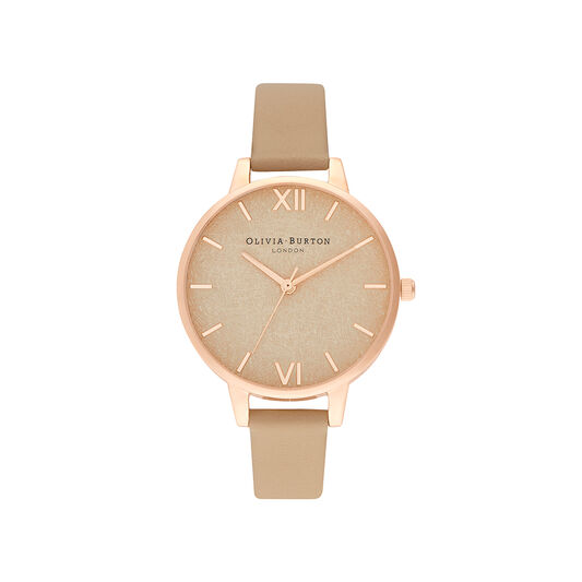 Woven Dial  Toffee & Pale Rose Gold