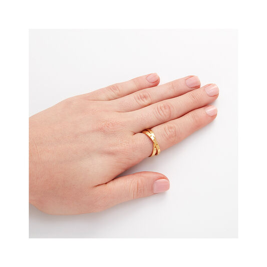 The Classics Interlink Ring Gold L