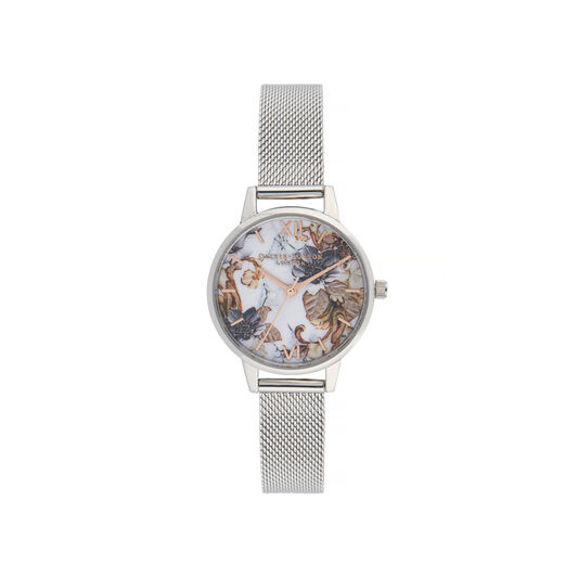 Olivia Burton Marble Florals Midi Dial Watch