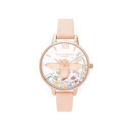 Enchanted Garden Nude Peach & Pale Rose Gold