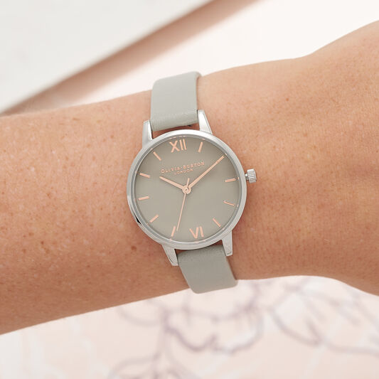 Grey Dial & Silver Watch
