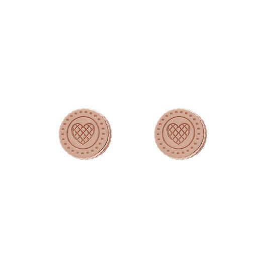 Tea Party Biscuit Rose Gold Stud Earrings