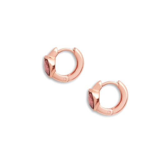 Heart Huggie Hoop Antique Pink & Rose Gold