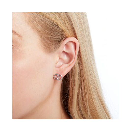 The Classics Interlink Earrings Silver