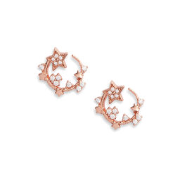 Celestial Swirl Hoops Rose Gold