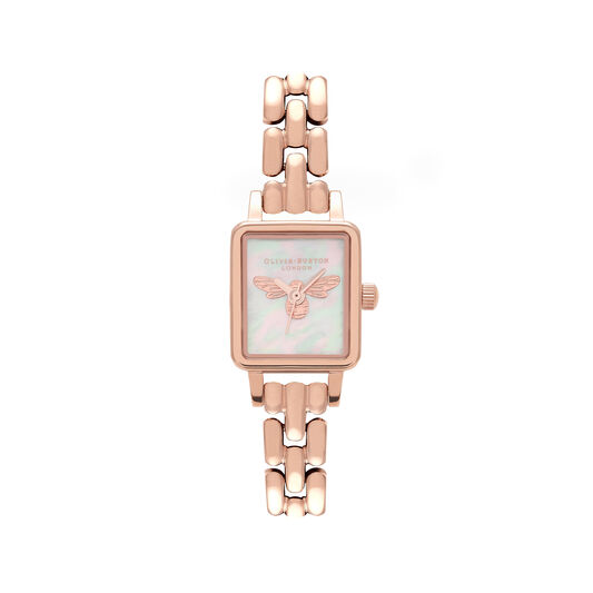 Lucky Bee Mini Dial Rose Gold Bracelet Watch