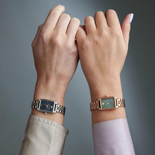Celestial Navy Sunray Dial & Silver Bracelet Watch