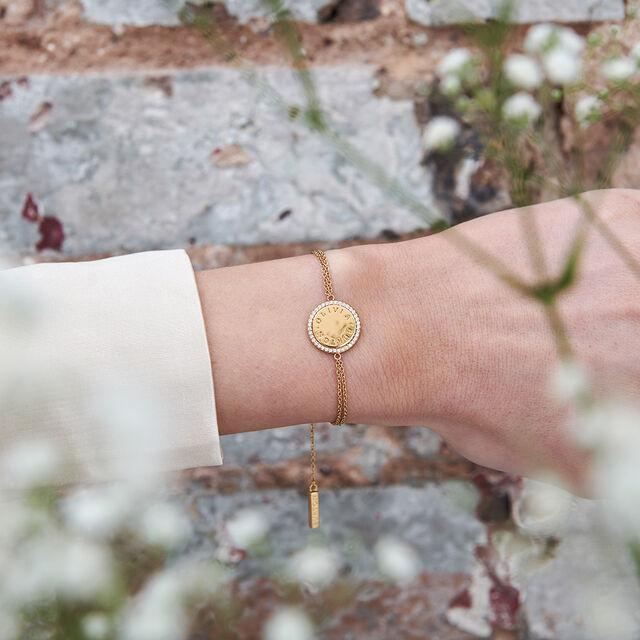 Bejewelled Classics Disc Gold Bracelet