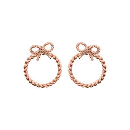 Olivia Burton Vintage Bow Hoop Earrings Rose Gold