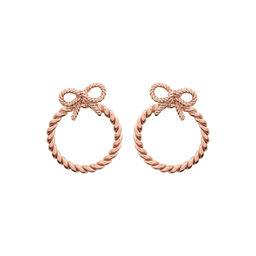 Olivia Burton Vintage Bow Hoop Earrings Rose Gold