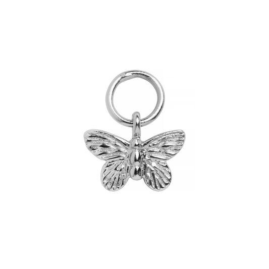 Butterfly Huggie Charm Silver