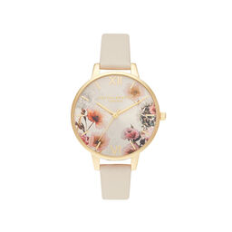 Sunlight Florals Vegan Cream & Gold Watch