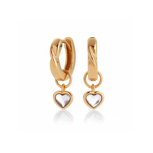 Interlink Heart Gift Set Gold