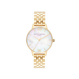 Mother of Pearl White Bracelet, Gold