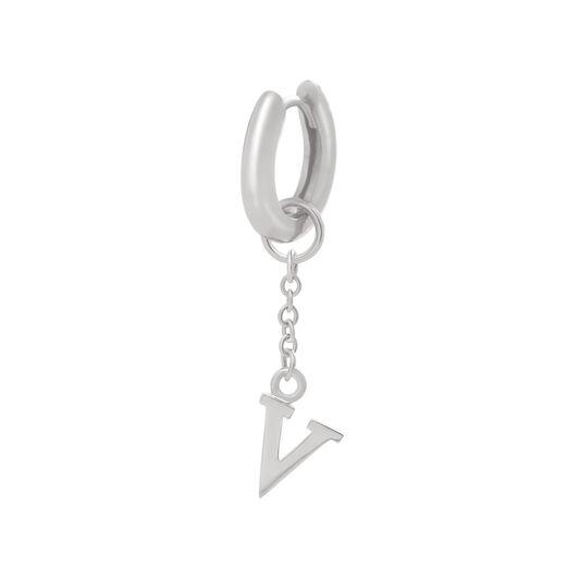 Initital Charm V Silver