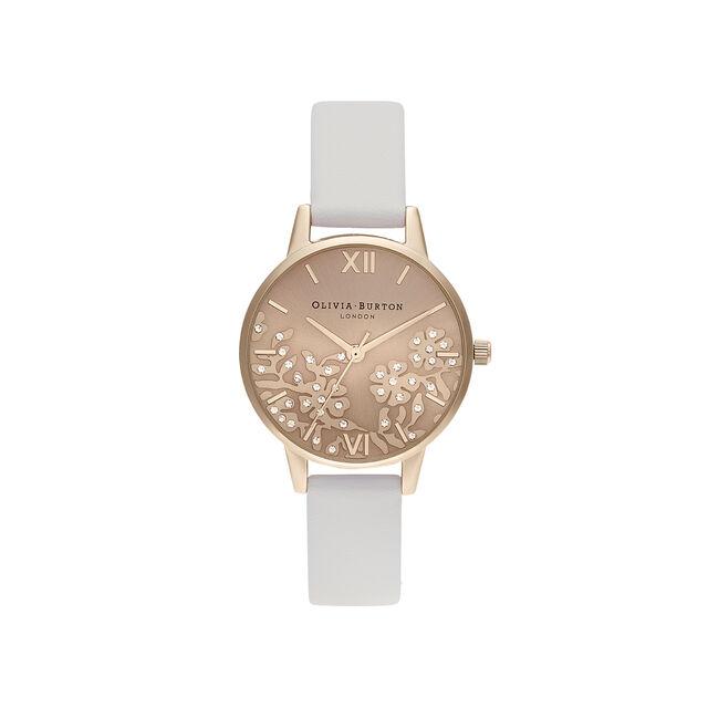 Olivia Burton London  Bejewelled Lace Women's Watch, 30mm