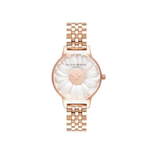 3D Daisy Rose Gold Bracelet