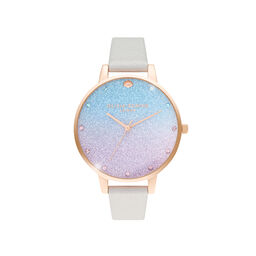 Glitter Ombre Demi Dial Shimmer Pearl & Rose Gold Watch