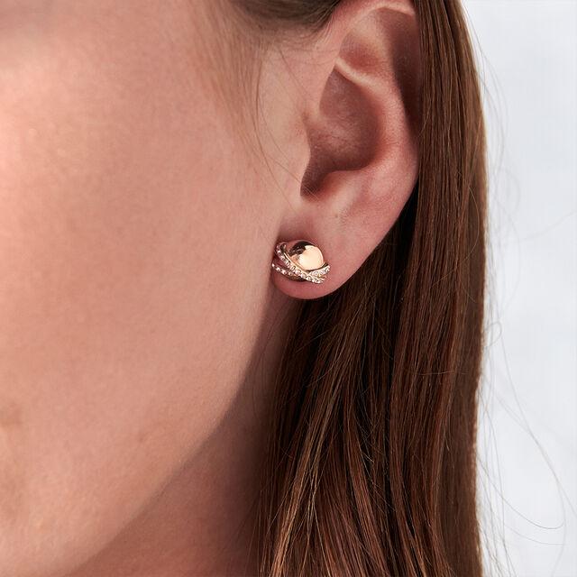 Planet Rose Gold Stud Earrings