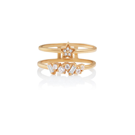 Celestial Double Band Ring Gold M
