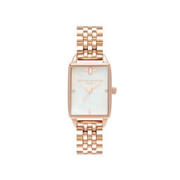 Bee Hive White Mother of Pearl & Rose Gold