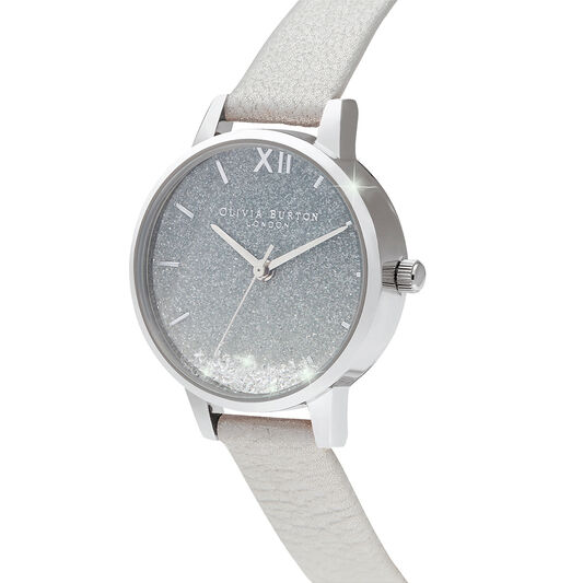 Wishing Watch, Glitter, Gray & Silver Watch