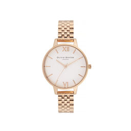 White Dial Demi Dial Watch