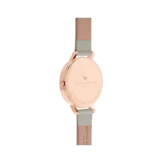 Big Dial Grey & Rose Gold Watch