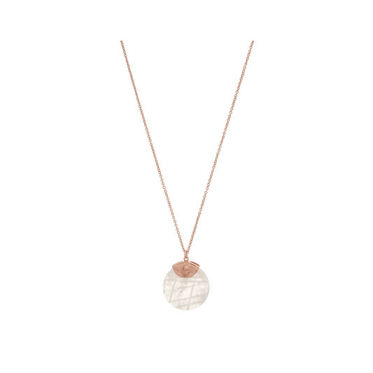 Semi Precious Necklace Rose Gold & Rose Quartz