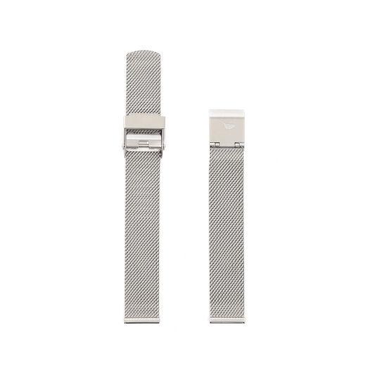 Midi Dial Silver Mesh Bracelet Watch Strap