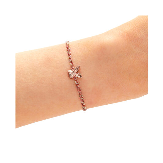 3D Bunny Chain Bracelet Rose Gold