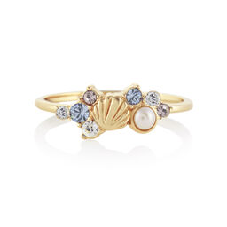 Sparkle Shell Gold Ring (M)