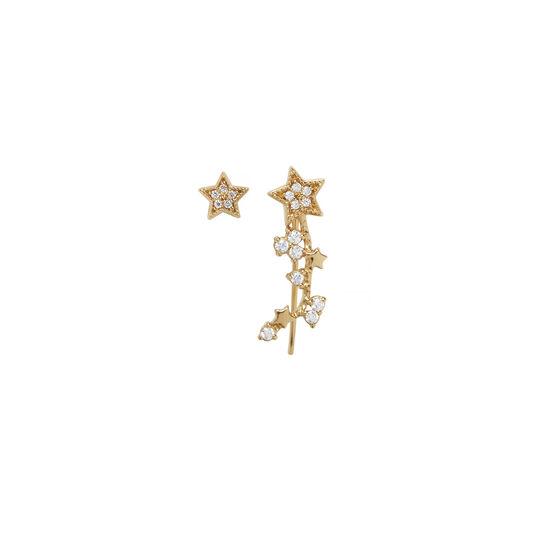 Celestial Star Crawler and Stud Earring