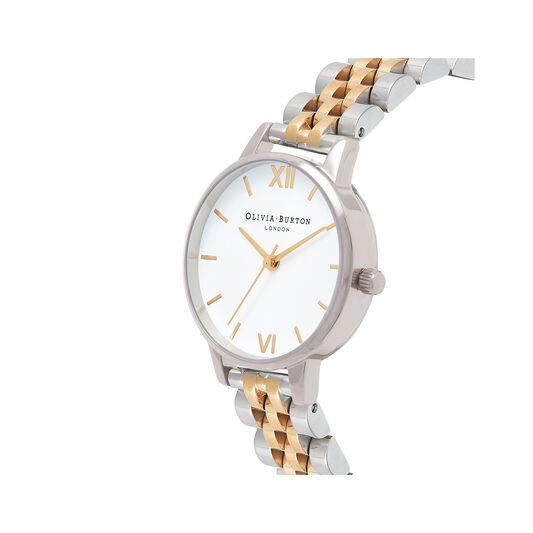 Midi Dial White Dial Gold & Silver Bracelet Watch