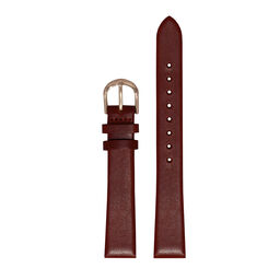 Big Dial Burgundy and Rose Gold Watch Strap